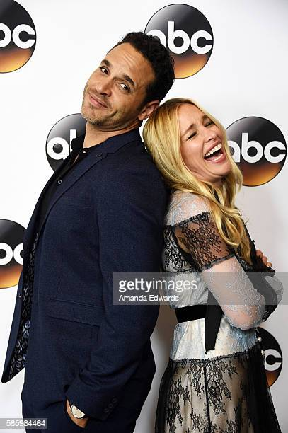 Actor Daniel Sunjata and actress Piper Perabo attend the Disney ABC Television Group TCA Summer Press Tour on August 4 2016 in Beverly Hills...