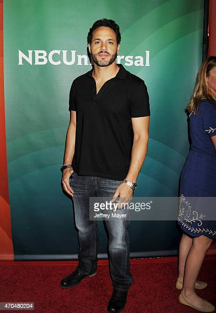 Actor Daniel Sunjata attends the 2015 NBCUniversal Summer Press Day held at the The Langham Huntington Hotel and Spa on April 02 2015 in Pasadena...