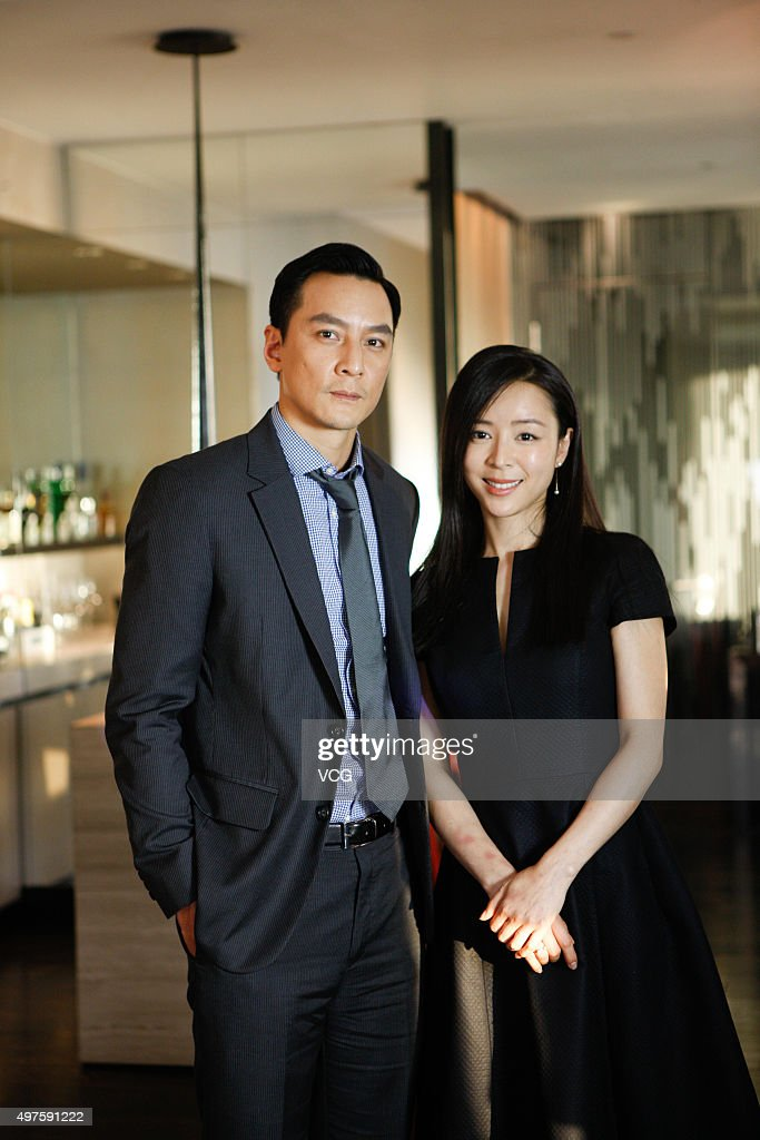 Actor <a gi-track='captionPersonalityLinkClicked' href=/galleries/search?phrase=Daniel+Wu&family=editorial&specificpeople=619546 ng-click='$event.stopPropagation()'>Daniel Wu</a> and actress <a gi-track='captionPersonalityLinkClicked' href=/galleries/search?phrase=Zhang+Jingchu&family=editorial&specificpeople=242993 ng-click='$event.stopPropagation()'>Zhang Jingchu</a> pose during the media visit of director Ringo Lam's film 'Battle of Life' on November 17, 2015 in Hong Kong, China.