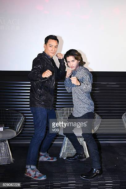 Actor Daniel Wu and American actor Aramis Knight promote American television series 'Into the Badlands' on May 7 2016 in Beijing China