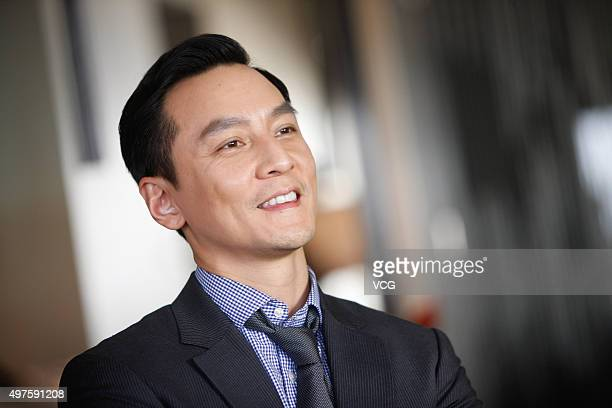 Actor Daniel Wu poses during the media visit of director Ringo Lam's film 'Battle of Life' on November 17 2015 in Hong Kong China