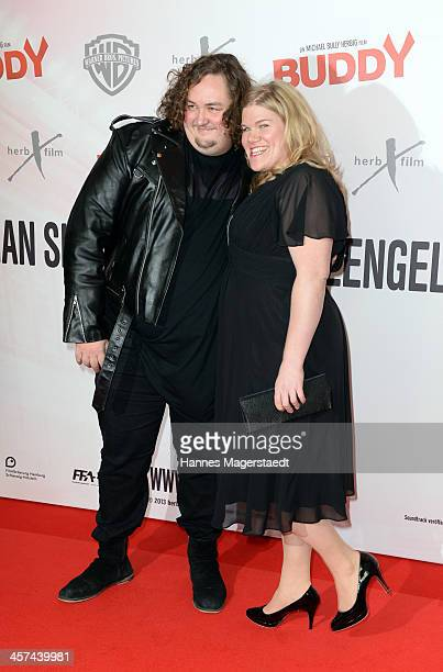 Actor Daniel Zillmann and actress Gisa Flake attend 'Buddy' Premiere at Mathaeser Filmpalast on December 17 2013 in Munich Germany
