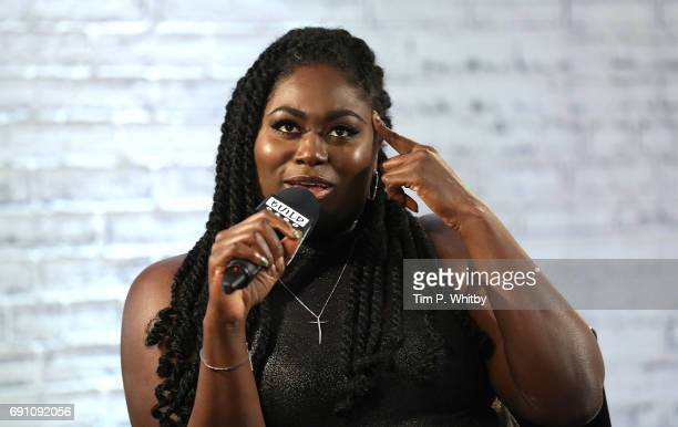 Actor Danielle Brookes from the cast of 'Orange is the New Black' speaks at the Build LDN event at AOL London on June 1 2017 in London England
