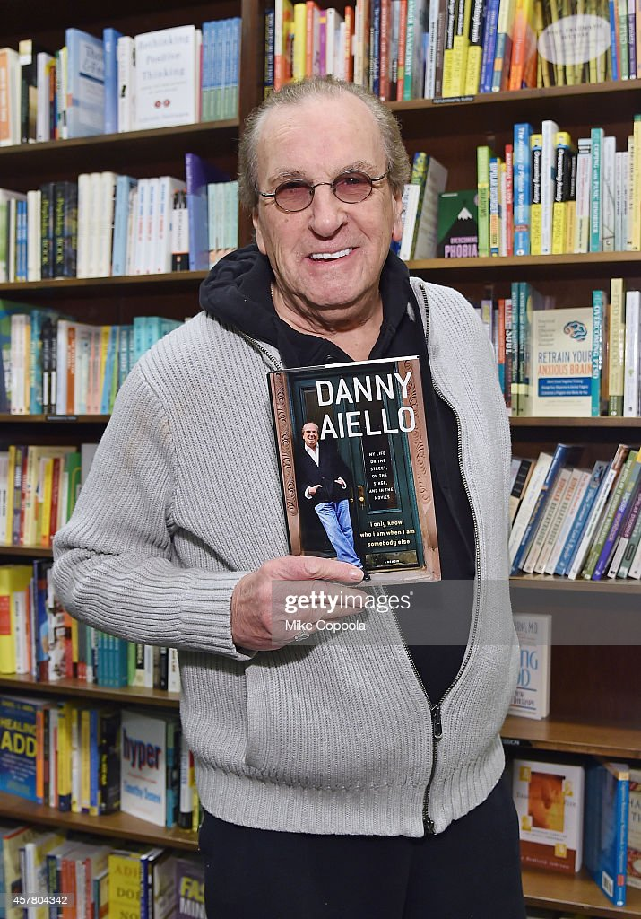 Actor Danny Aiello poses for a picture before he signs copies of his book 'I Only Know Who I Am When I Am Somebody Else'at Barnes Noble 82nd Street...
