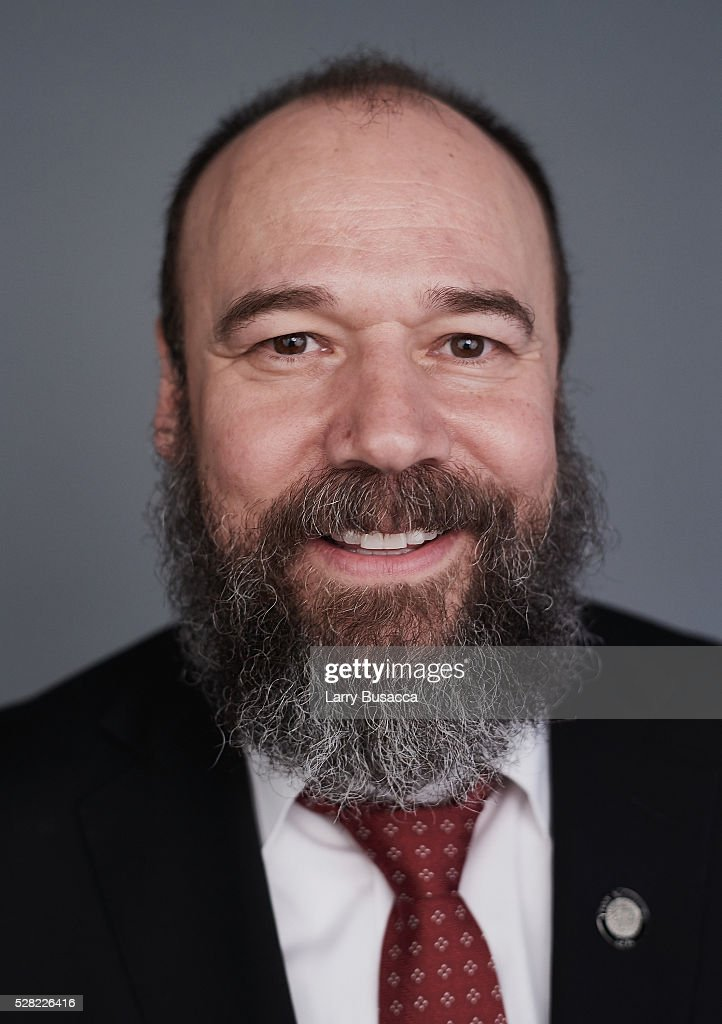 Actor Danny Burnstein poses for a portrait at the 2016 Tony Awards Meet The Nominees Press Reception on May 4, 2016 in New York City.