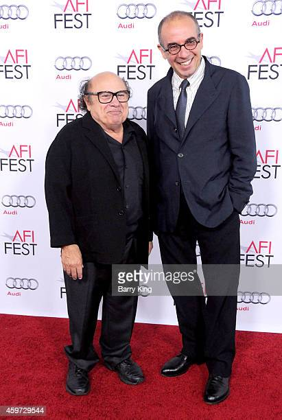 Actor Danny DeVito and director/screenwriter Giuseppe Tornatore arrive at the AFI FEST 2014 Presented by Audi 'Cinema Paradiso' Special Screening...