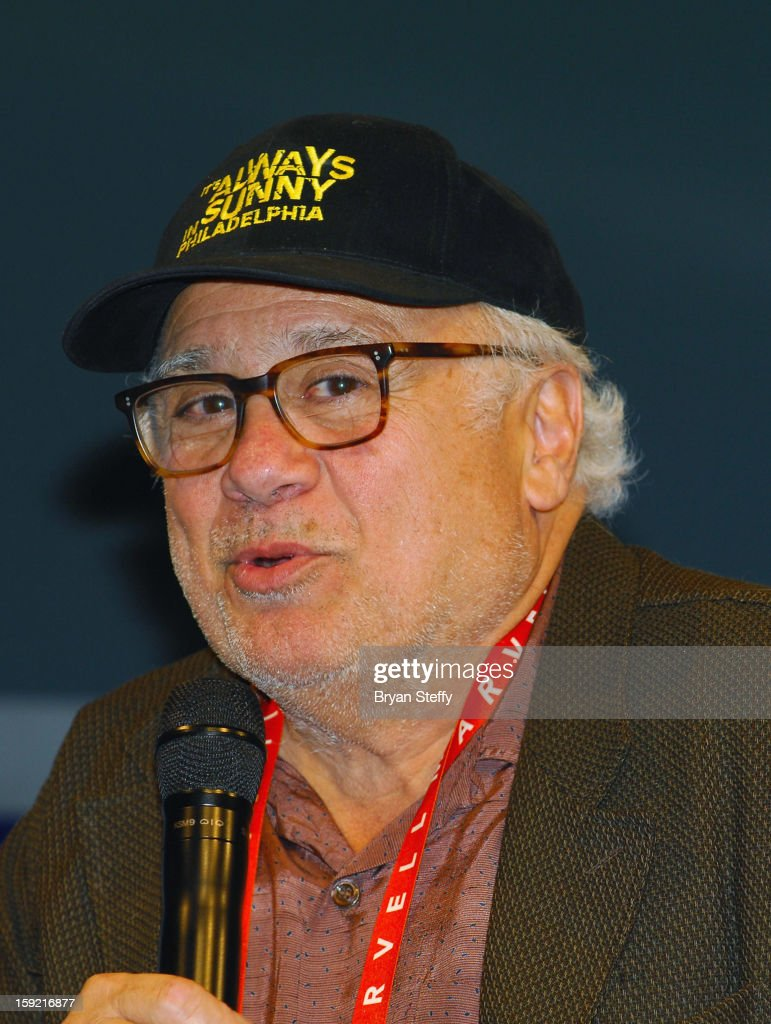 Actor <a gi-track='captionPersonalityLinkClicked' href=/galleries/search?phrase=Danny+Devito&family=editorial&specificpeople=210718 ng-click='$event.stopPropagation()'>Danny Devito</a> appears at the Panasonic booth at the 2013 Consumer Electronics Show (CES) at the Las Vegas Convention Center on January 9, 2013 in Las Vegas, Nevada.
