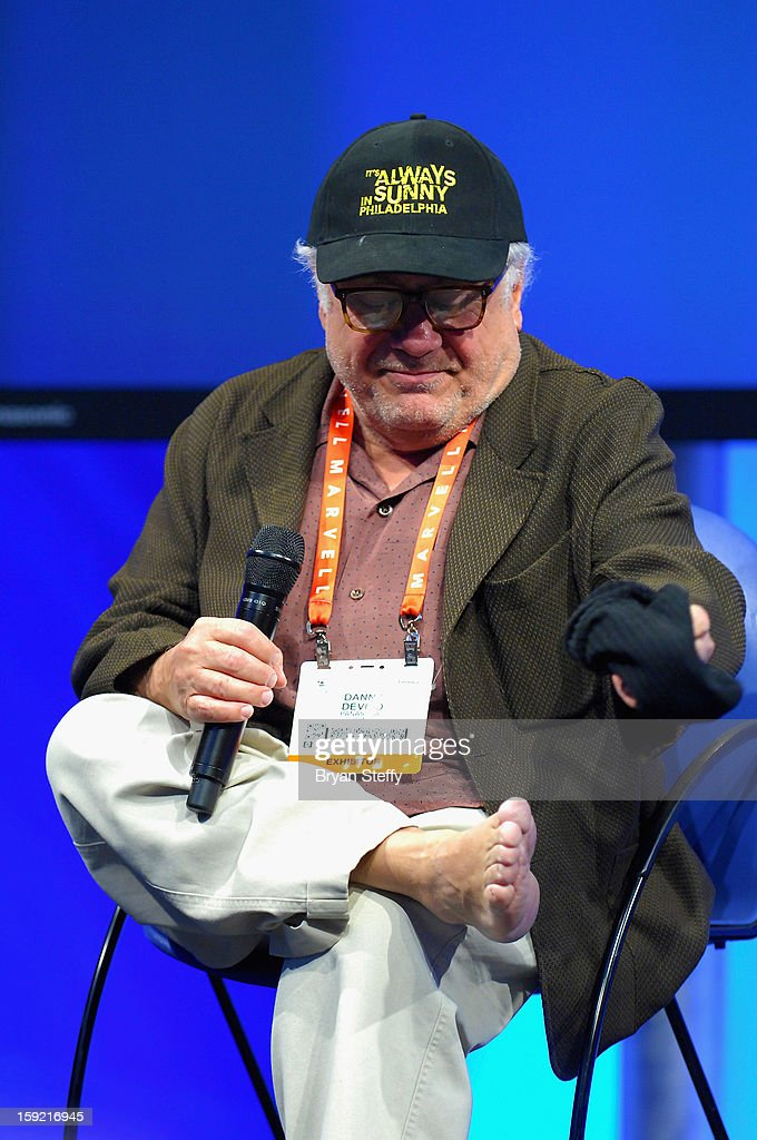 Actor Danny Devito appears at the Panasonic booth at the 2013 Consumer Electronics Show (CES) at the Las Vegas Convention Center on January 9, 2013 in Las Vegas, Nevada.