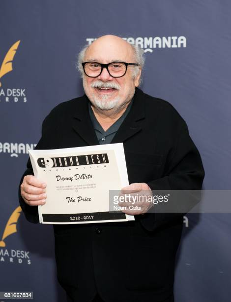 Actor Danny DeVito attends the 2017 Drama Desk Nominees Reception at Marriott Marquis Times Square on May 10 2017 in New York City