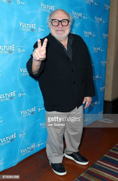 Actor Danny DeVito attends the 'It's Always Sunny' panel part of Vulture Festival LA presented by ATT at Hollywood Roosevelt Hotel on November 19...
