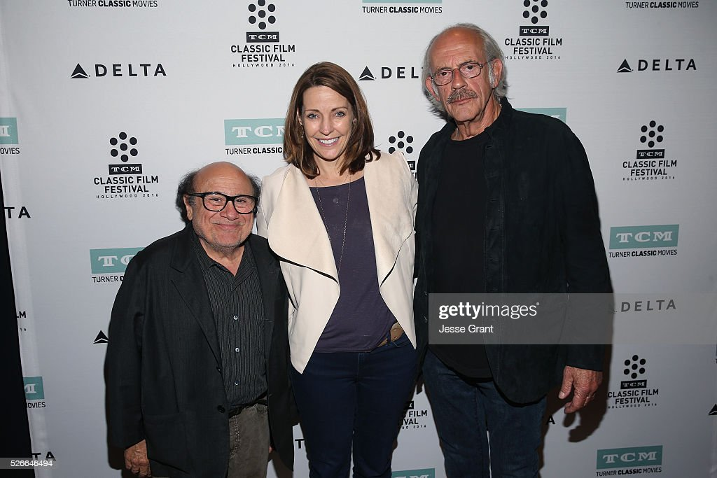 Actor Danny DeVito, General Manager of TCM Jennifer Dorian and actor Christopher Lloyd attend 'One Flew Over the Cuckoo's Nest' screening during day 3 of the TCM Classic Film Festival 2016 on April 30, 2016 in Los Angeles, California. 25826_009