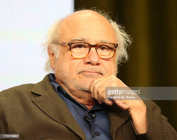 Actor Danny DeVito speaks onstage during the 'It's Always Sunny in Philadelphia' panel discussion at the FX portion of the 2013 Summer Television...
