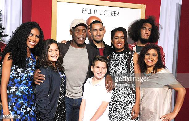 Actor Danny Glover and Elaine Cavalleiro and family attend the premiere of Universal's 'Almost Christmas' at Regency Village Theatre on November 3...