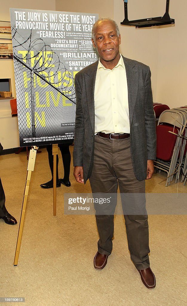 Actor <a gi-track='captionPersonalityLinkClicked' href=/galleries/search?phrase=Danny+Glover&family=editorial&specificpeople=171304 ng-click='$event.stopPropagation()'>Danny Glover</a> attends 'The House I Live In' Washington DC Screening And Performance By John Legend at Shiloh Baptist Church on January 19, 2013 in Washington, DC.