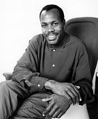 Actor Danny Glover on photo assignment on February 2 1987 in Los Angeles CA