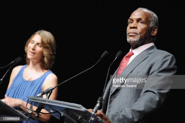 US actor Danny Glover receives a tribute for his career in film during the 37th Deauville American Film Festival on September 7 2011 in Deauville...