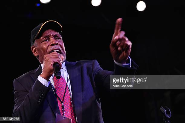 Actor Danny Glover speaks onstage at the Busboys and Poets' Peace Ball Voices of Hope and Resistance at National Museum Of African American History...