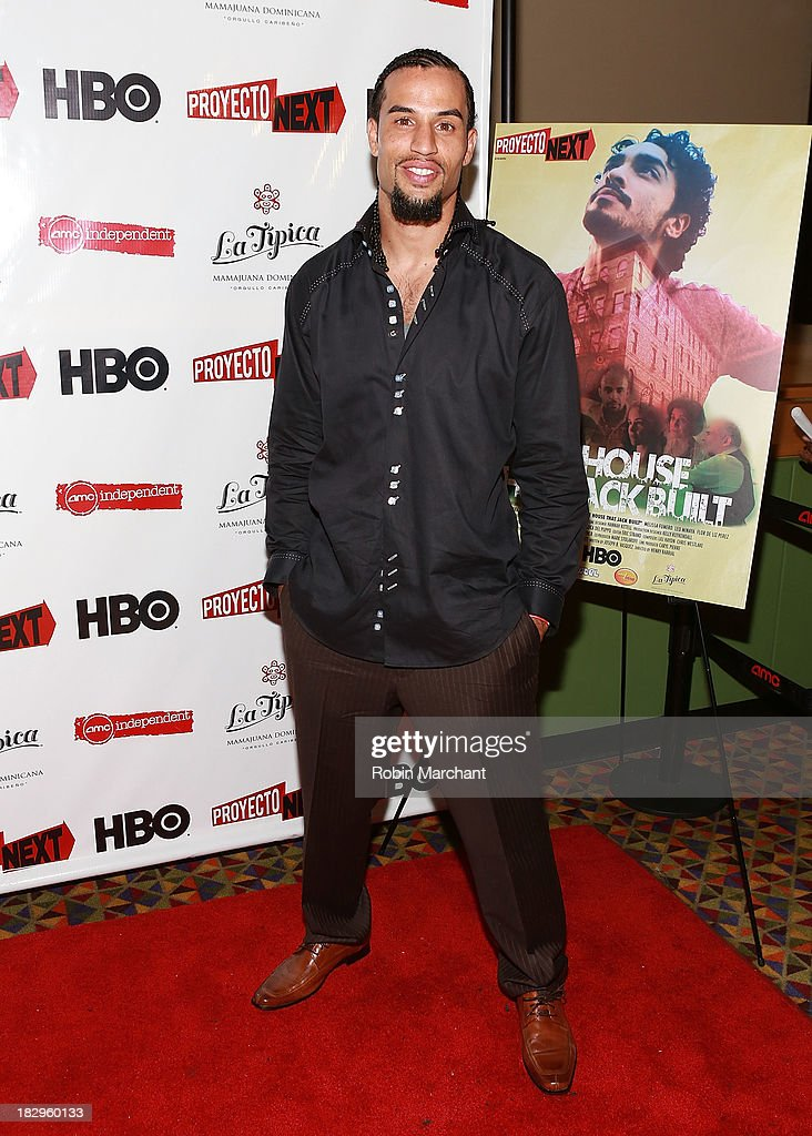 Actor Danny Henriquez attends the premiere of the 'The House That Jack Built' at AMC Empire 25 theater on October 2, 2013 in New York City.