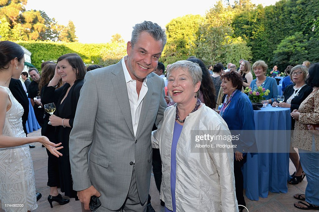Actor Danny Huston and British Consul-General in Los Angeles Barbara Hay attend The Brittish Consulate'a toast of the U.S. launch of the Starz original series 'The White Queen' on July 25, 2013 in Los Angeles, California.