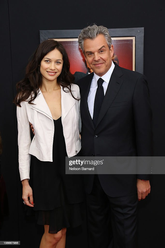 Actor <a gi-track='captionPersonalityLinkClicked' href=/galleries/search?phrase=Danny+Huston&family=editorial&specificpeople=211465 ng-click='$event.stopPropagation()'>Danny Huston</a> (R) and <a gi-track='captionPersonalityLinkClicked' href=/galleries/search?phrase=Olga+Kurylenko&family=editorial&specificpeople=630281 ng-click='$event.stopPropagation()'>Olga Kurylenko</a> attend the 'Hitchcock' New York Premiere at Ziegfeld Theater on November 18, 2012 in New York City.