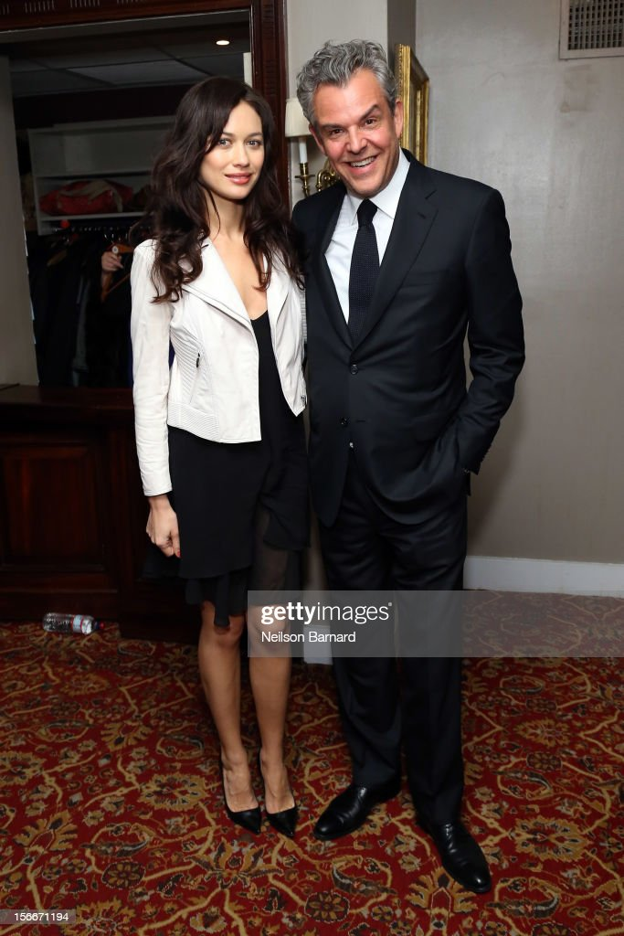 Actor <a gi-track='captionPersonalityLinkClicked' href=/galleries/search?phrase=Danny+Huston&family=editorial&specificpeople=211465 ng-click='$event.stopPropagation()'>Danny Huston</a> (R) and <a gi-track='captionPersonalityLinkClicked' href=/galleries/search?phrase=Olga+Kurylenko&family=editorial&specificpeople=630281 ng-click='$event.stopPropagation()'>Olga Kurylenko</a> attend the 'Hitchcock' New York Premiere After Party at 21 Club on November 18, 2012 in New York City.