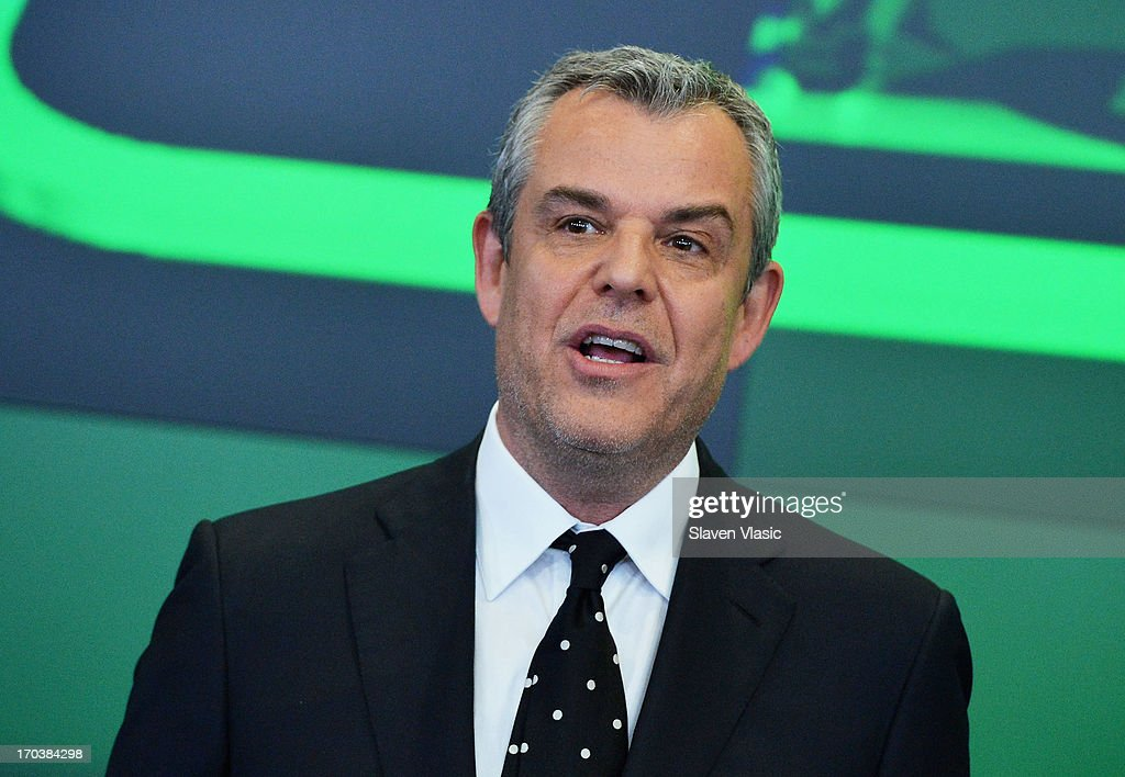 Actor Danny Huston visits NASDAQ MarketSite on June 12, 2013 in New York City.