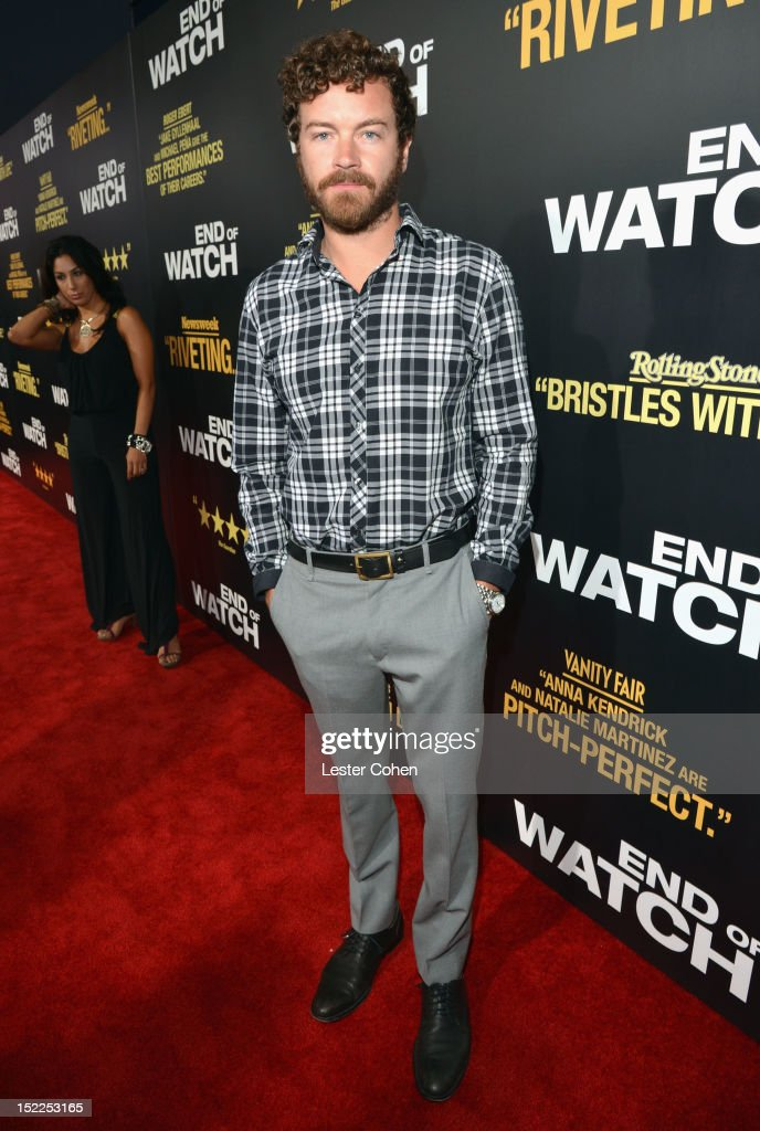 Actor <a gi-track='captionPersonalityLinkClicked' href=/galleries/search?phrase=Danny+Masterson&family=editorial&specificpeople=239512 ng-click='$event.stopPropagation()'>Danny Masterson</a> arrives at the 'End Of Watch' Los Angeles Premiere at Regal Cinemas L.A. Live on September 17, 2012 in Los Angeles, California.