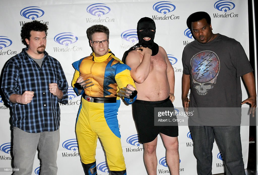 Actor Danny McBride, Seth Rogen, Even Goldberg, Craig Robinson participates at WonderCon Anaheim 2013 - Day 2 at Anaheim Convention Center on March 30, 2013 in Anaheim, California.
