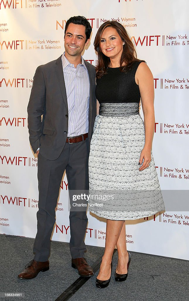 Actor <a gi-track='captionPersonalityLinkClicked' href=/galleries/search?phrase=Danny+Pino&family=editorial&specificpeople=240258 ng-click='$event.stopPropagation()'>Danny Pino</a> and actress and honoree <a gi-track='captionPersonalityLinkClicked' href=/galleries/search?phrase=Mariska+Hargitay&family=editorial&specificpeople=204727 ng-click='$event.stopPropagation()'>Mariska Hargitay</a> attends the 2012 New York Women In Film And Television Muse Awards at the Hilton New York on December 13, 2012 in New York City.