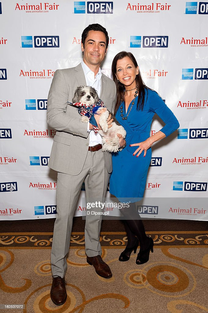 Actor Danny Pino (L) and Wendy Diamond attend the 'Animalfair.com's Bark Business Tour Benefiting K9s For Warriors at the Omni Berkshire Place Hotel on September 30, 2013 in New York City.
