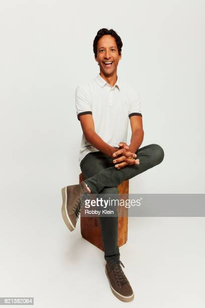 Actor Danny Pudi of Disney's 'DuckTales' pose sfor a portrait during ComicCon 2017 at Hard Rock Hotel San Diego on July 21 2017 in San Diego...