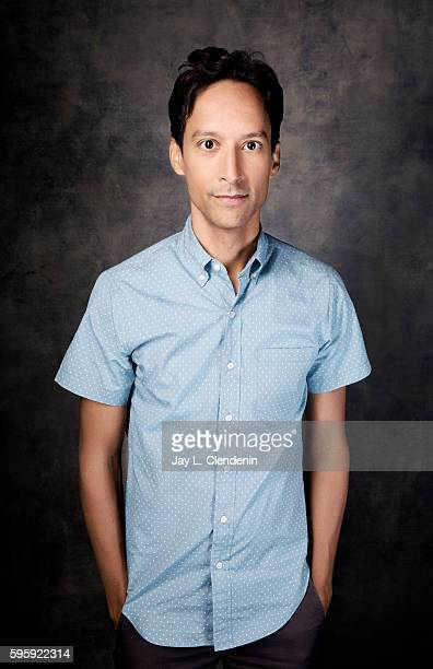 Actor Danny Pudi of 'Powerless' is photographed for Los Angeles Times at San Diego Comic Con on July 22 2016 in San Diego California