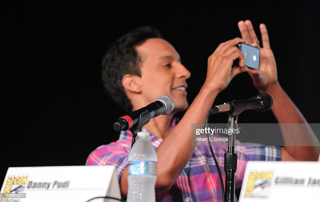 Actor <a gi-track='captionPersonalityLinkClicked' href=/galleries/search?phrase=Danny+Pudi&family=editorial&specificpeople=6106772 ng-click='$event.stopPropagation()'>Danny Pudi</a> participates in 'Community' - School is Back In Session Panel - Comic-Con International 2012 held at San Diego Convention Center on July 12, 2012 in San Diego, California.