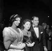 Actor Danny Thomas with his wife Rose Marie and daughter Marlo Thomas attends an event in Los AngelesCA