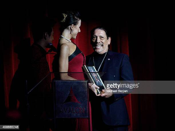 Actor Danny Trejo accepts an award onstage during Katherine Castro Receives Hollywood FAME Awards at Avalon on November 12 2014 in Hollywood...