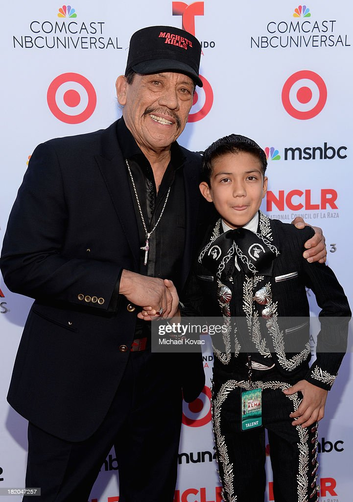 Actor <a gi-track='captionPersonalityLinkClicked' href=/galleries/search?phrase=Danny+Trejo&family=editorial&specificpeople=2187220 ng-click='$event.stopPropagation()'>Danny Trejo</a> (L) and singer Sebastien De La Cruz attend the 2013 NCLR ALMA Awards at Pasadena Civic Auditorium on September 27, 2013 in Pasadena, California.