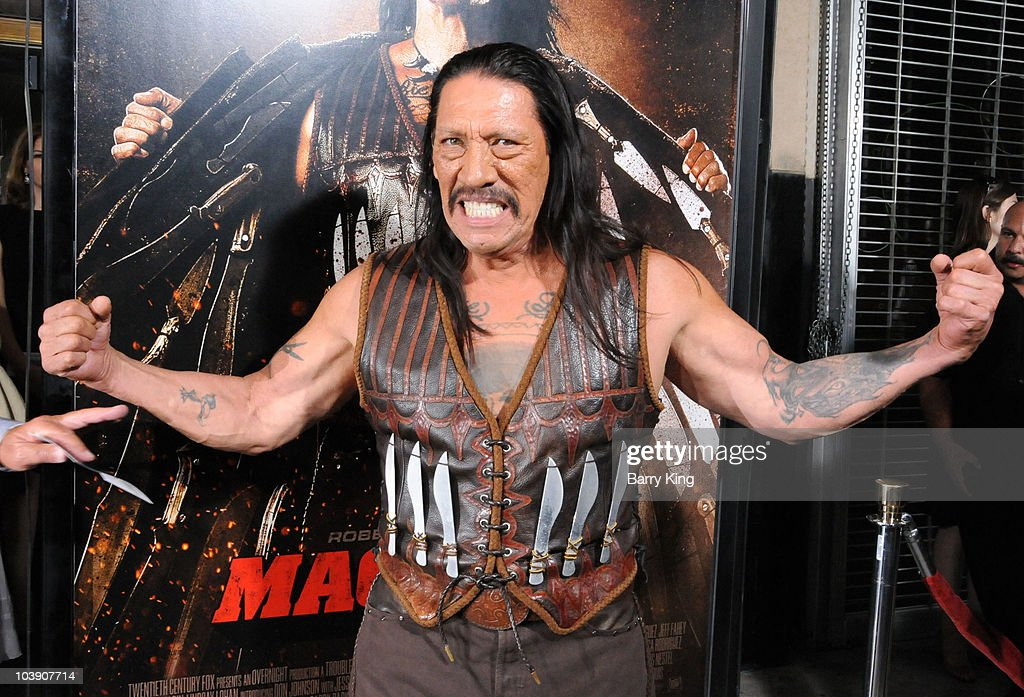 Actor Danny Trejo arrives at the Los Angeles Screening of 'Machete' at the Orpheum Theatre on August 25 2010 in Los Angeles California