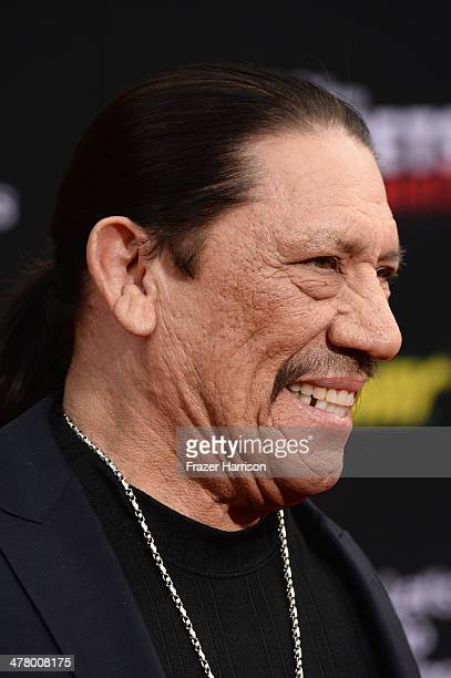 Actor Danny Trejo arrives at the premiere Of Disney's 'Muppets Most Wanted' at the El Capitan Theatre on March 11 2014 in Hollywood California