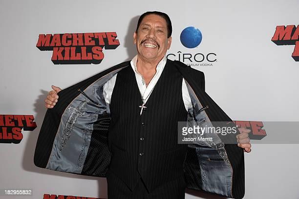 Actor Danny Trejo arrives at the premiere of Open Road Films' 'Machete Kills' at Regal Cinemas LA Live on October 2 2013 in Los Angeles California