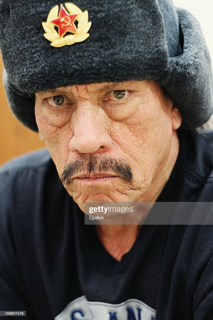 Actor <a gi-track='captionPersonalityLinkClicked' href=/galleries/search?phrase=Danny+Trejo&family=editorial&specificpeople=2187220 ng-click='$event.stopPropagation()'>Danny Trejo</a> attends event related to the 1985 film 'Runaway Train', which Trejo performed in and Andrey Konchalovsky directed, on November 8, 2012 in Moscow, Russia.