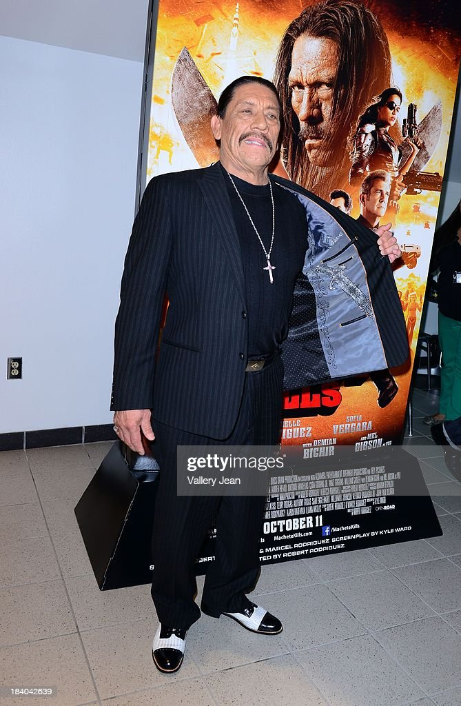 Actor <a gi-track='captionPersonalityLinkClicked' href=/galleries/search?phrase=Danny+Trejo&family=editorial&specificpeople=2187220 ng-click='$event.stopPropagation()'>Danny Trejo</a> attends 'Machete Kills' red carpet premiere at Regal South Beach on October 10, 2013 in Miami, Florida.