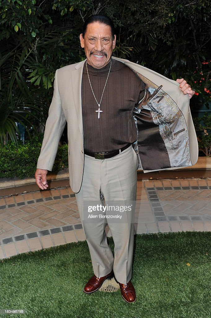 Actor <a gi-track='captionPersonalityLinkClicked' href=/galleries/search?phrase=Danny+Trejo&family=editorial&specificpeople=2187220 ng-click='$event.stopPropagation()'>Danny Trejo</a> attends Open Road Films' 'Machete Kills' press conference at Four Seasons Hotel Los Angeles at Beverly Hills on October 6, 2013 in Beverly Hills, California.
