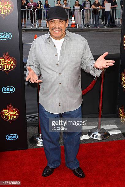 Actor Danny Trejo attends 'The Book Of Life' Los Angeles premiere at Regal 14 at LA Live Downtown on October 12 2014 in Los Angeles California