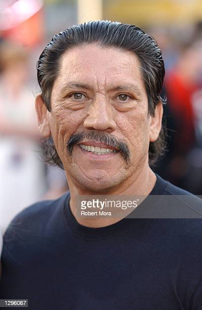 Actor Danny Trejo attends the premiere of 'XXX' at the Mann Village and Bruin Theatres August 5 2002 in Westwood California The film opens in...