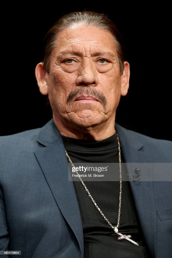 Actor Danny Trejo speaks onstage during the 'From Dusk Til Dawn: The Series' panel discussion at the El Rey Network portion of the 2015 Summer TCA Tour at The Beverly Hilton Hotel on July 30, 2015 in Beverly Hills, California.
