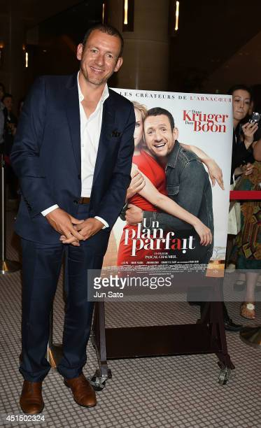 Actor Dany Boon attends the stage greeting event for Japan premiere of 'Fly Me to the Moon' at Yurakucyo Asahi Hall on June 30 2014 in Tokyo Japan