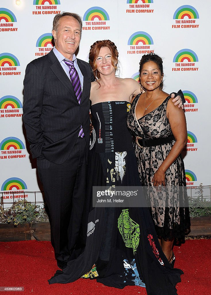 Actor Dar Dixon, actress/co-founder PSOS <a gi-track='captionPersonalityLinkClicked' href=/galleries/search?phrase=Tanna+Frederick&family=editorial&specificpeople=3991940 ng-click='$event.stopPropagation()'>Tanna Frederick</a> and producer Donzaleigh Abernathy attend the Project Save Our Surf Holiday Celebration and Fundraiser at the Brakeman Brewery on December 5, 2013 in Los Angeles, California.
