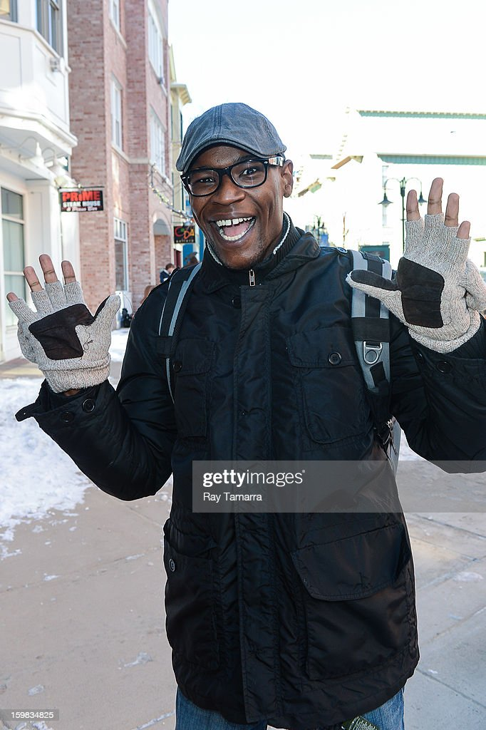 Actor Darien Sills-Evans walks in Park City on January 20, 2013 in Park City, Utah.