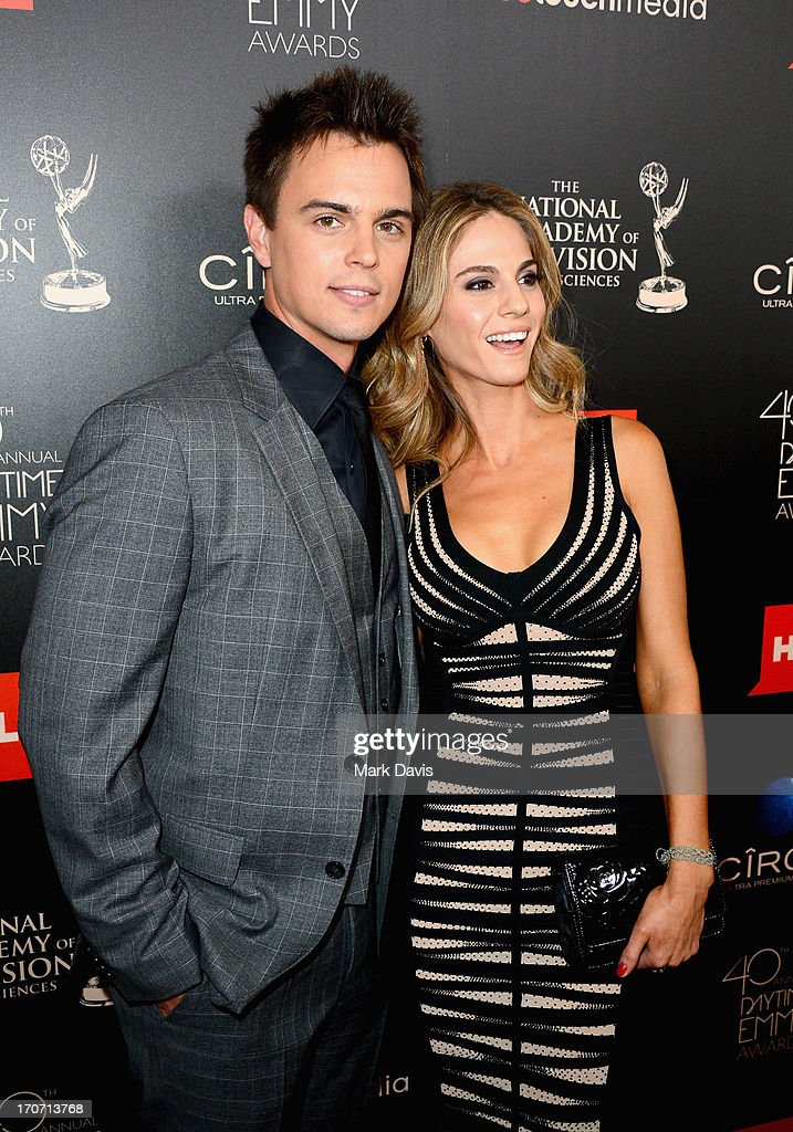 Actor Darin Brooks (L) and Kelly Kruger attend The 40th Annual Daytime Emmy Awards at The Beverly Hilton Hotel on June 16, 2013 in Beverly Hills, California.