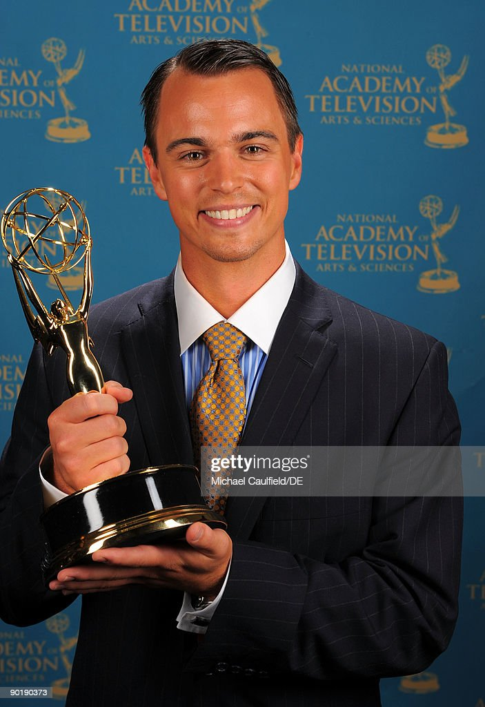 Actor Darin Brooks, winner of the Emmy for Outstanding Younger Actor in a Drama Series, poses for a portrait at the 36th Annual Daytime Emmy Awards at The Orpheum Theatre on August 30, 2009 in Los Angeles, California.